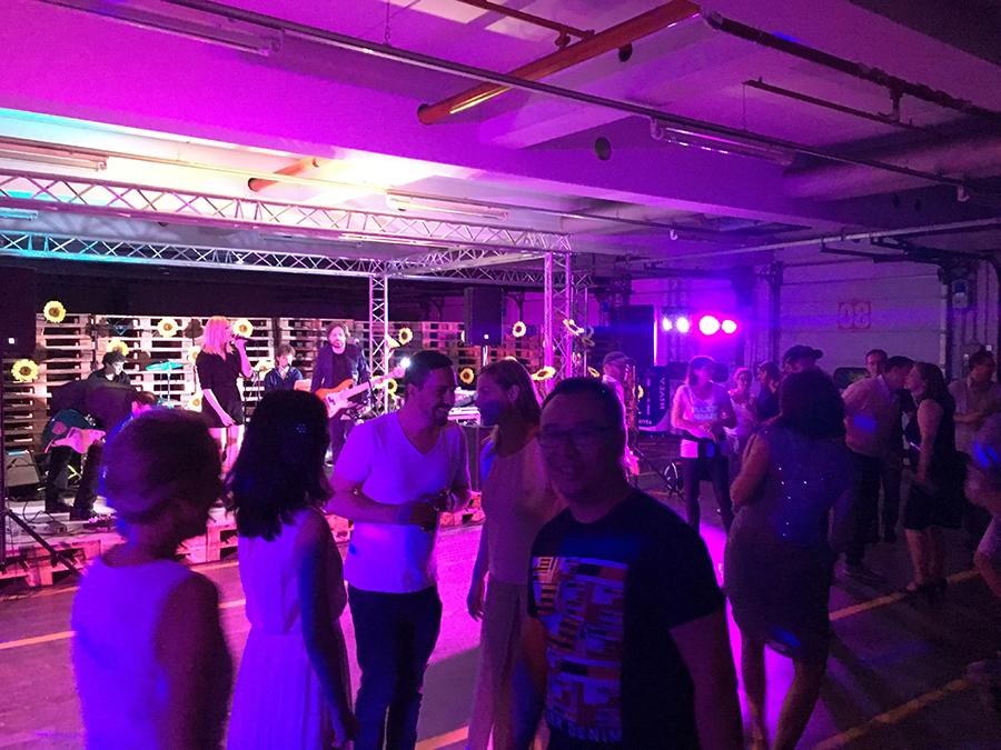 Berliner Band auf Firmenevent
